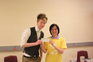 Presenting the cheque