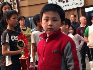 Champion of OYCC Under 8 - Jonathan Zhao
