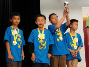 Griffin, Hao, Benjamin and Oliver - First K-3 team