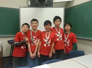 TSSCL 2014 silver medal winners