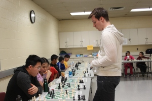 GM Robin van Kampen in the simul
