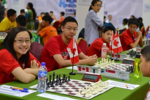 Team Canada in World Youth U-16 Chess Olympiad 2015